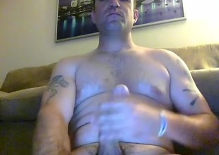 Sweet guy is having a in favour time in someone's skin apartment and shooting personally on computer webcam