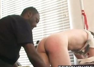 Fetish dude chastising some asses