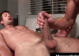 Hot and oversexed dude gets the massage