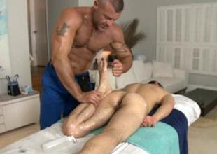 Steamy kneading session of randy homosexual toff