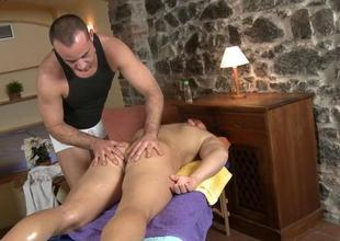 Unfathomable anal drubbing with gay house-servant and hunk