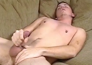 Martin wanking his cock