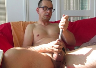 Two times sounding my cock