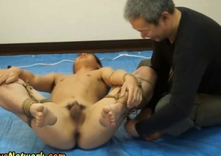 Bound asian exasperation toyed