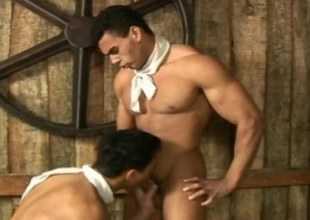 Hottie Beefy Cowboys Analsex in the hay