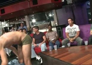 Boy sucking stripper at party scene 2