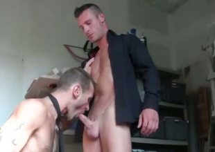 Amateur gay frenchies suck on cock