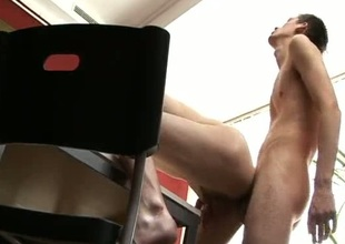Unmitigatedly sexy and horny gay making out