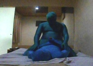 Zentai Roleplay with a Older Reside Man - Part 1