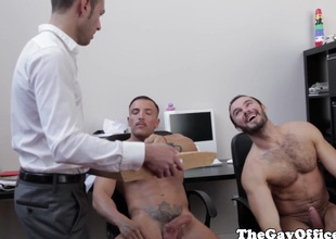 Office hunks assfucking charges hours