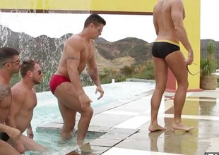 Pool Party - Jizz Orgy - Philip Aubrey - Adam Killian - Jessie Colter - Trenton Ducati - Hans Berlin