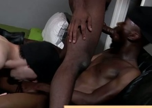 Twink takes interracial dick in his ass