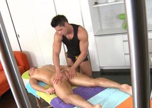 Raunchy and wild knob sucking be beneficial to gay hunk