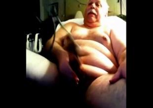 grandpa catechize his cock and cum