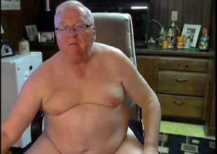glasses grandpa stroke and cum unaffected by cam