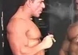 Antonio smoking