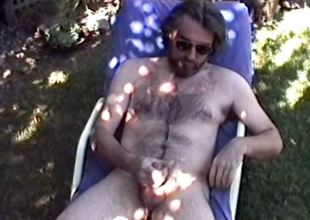 Hairy daddy has an extremely intense orgasm