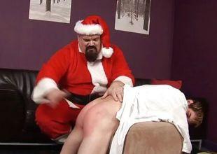 ST00S18 Santa Spanks a Bad Wretch