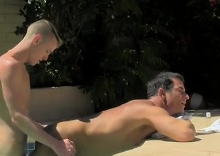 Hot gay scene With a difficulty dudes jizz dripping down his tanned b