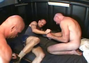 Nasty gay dude picks up two horny guys