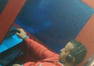 Str8 eavesdrop daddy working his warp near cyber cafe