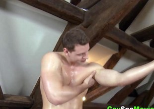 Muscled amateurs massage