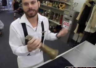 Blowjob behind the counter anal fuck up ahead unsoiled room