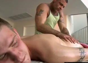 Masseur sucks straight starring role guy at near massage
