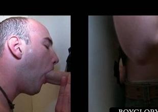 Gloryhole oral sex nigh horny gays